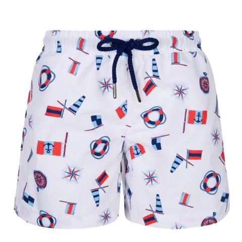 Sunuva Boys Classic White Riviera Swim Short