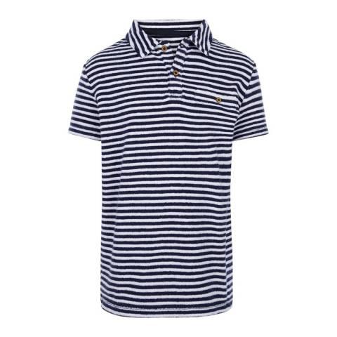 Sunuva Boys Navy and White Stripe Towelling Polo Shirt
