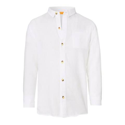 Sunuva Boys White Pure Cotton Shirt