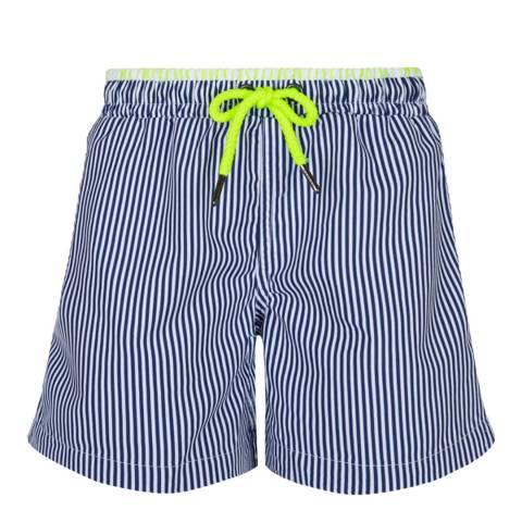 Sunuva Boys Navy and White Stripe Swim Short