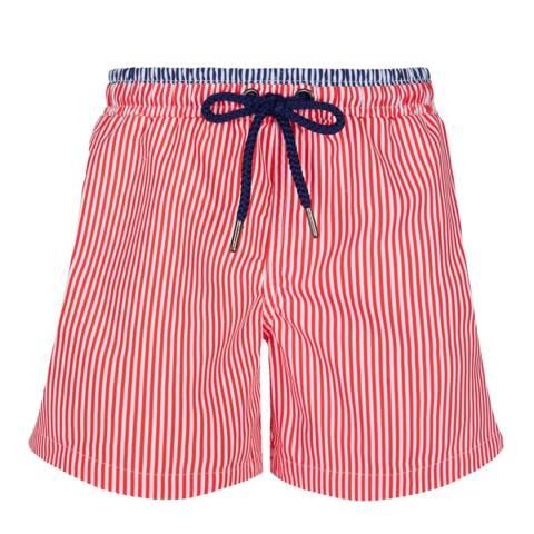 Sunuva Boys Red and White Stripe Swim Short