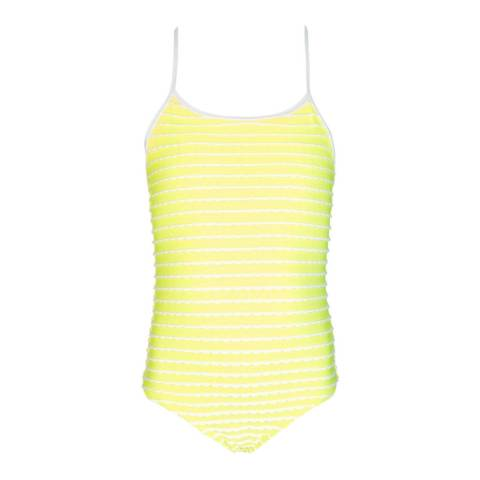Sunuva Girls Neon Yellow Scallop Swimsuit