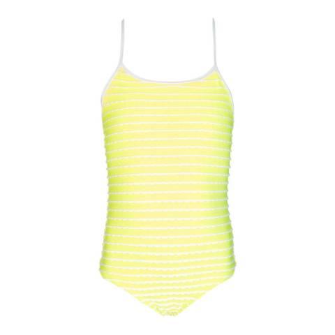 Sunuva Girls Neon Yellow Scallop Swimsuit