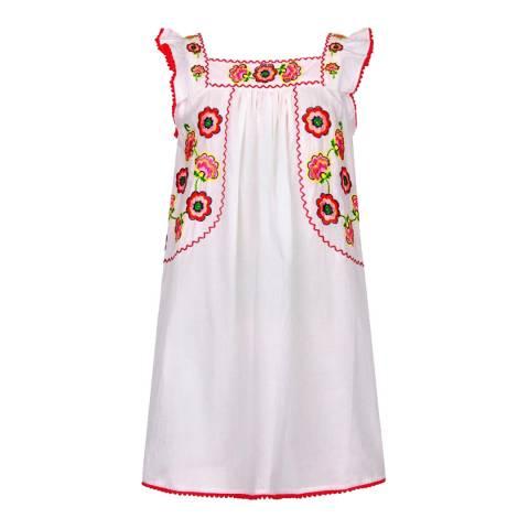 Sunuva Girls White Mexicana Flutter Dress