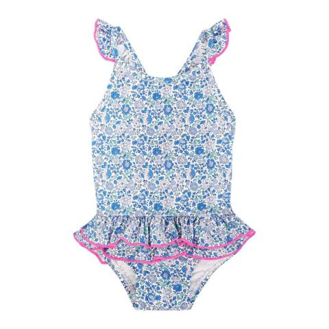 Sunuva Baby Girls Blue Liberty Swimsuit