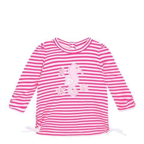 Sunuva Baby Girls Pink Seahorse Rash Vest