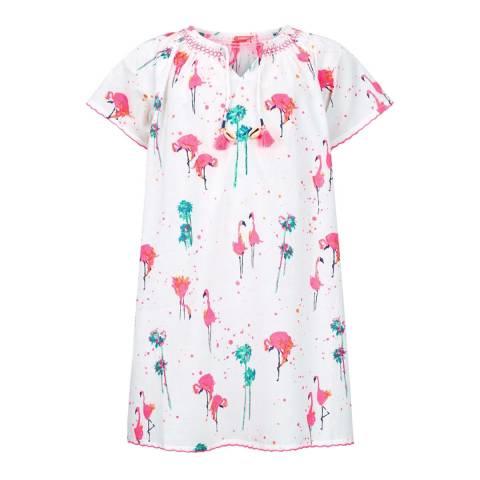 Sunuva Girls Pink Flamingo Kaftan Dress
