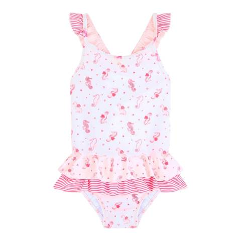 Sunuva Baby Girls Pink Seahorse Swimsuit