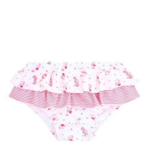 Sunuva Baby Girls Pink Seahorse Frill Nappy Pant