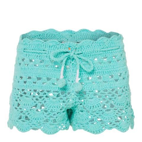 Sunuva Girls Frozen Aqua Crochet Shorts
