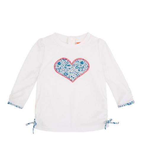 Sunuva Baby Girls Blue and White Liberty Rash Vest