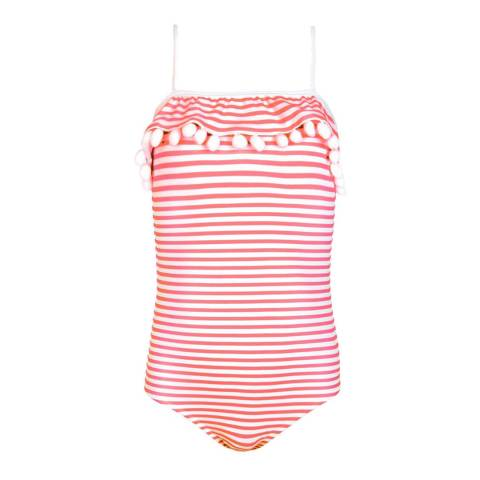 Sunuva Girls Pink Origami Pom Pom Swimsuit
