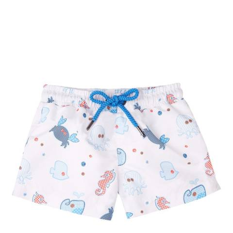 Sunuva Baby Boys Blue Under the Sea Patchwork Swim Short