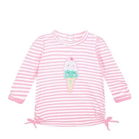 Sunuva Baby Girls Pink Ice Cream Rash Vest