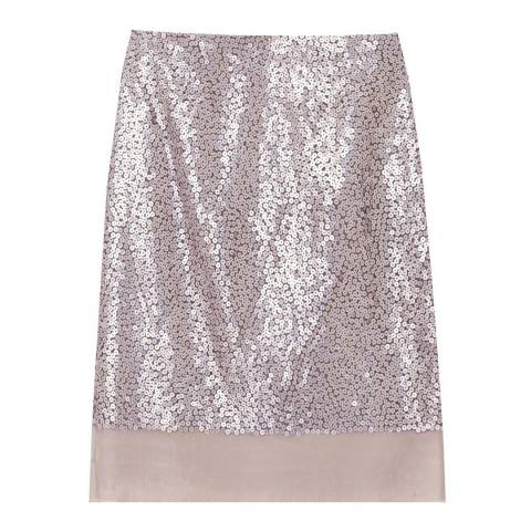 Hobbs London Lilac Sequinned Iris Skirt