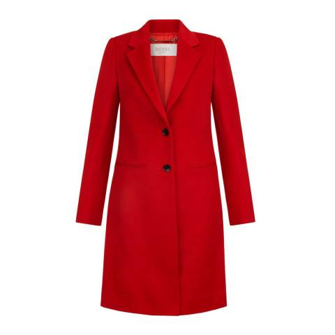 Hobbs London Red Tilda Wool Coat