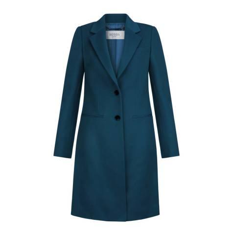 Hobbs London Teal Tilda Wool Coat