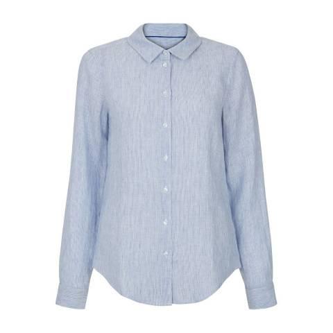 Hobbs London Blue Stripe Marianne Shirt