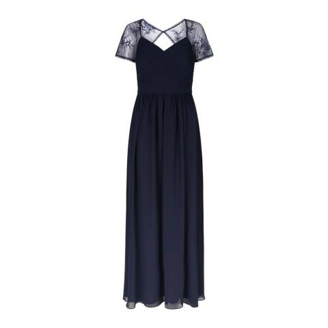 Hobbs London Navy Sandra Maxi Dress