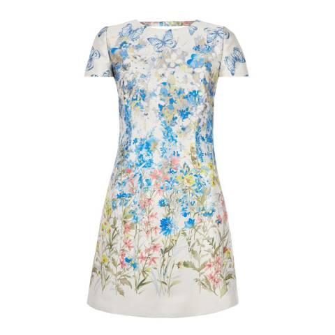 Hobbs London Oyster/Floral Gardenia Dress