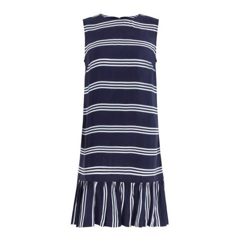 Hobbs London Navy/White Casey Dress