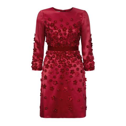 Hobbs London Red Floral Lavinia Dress