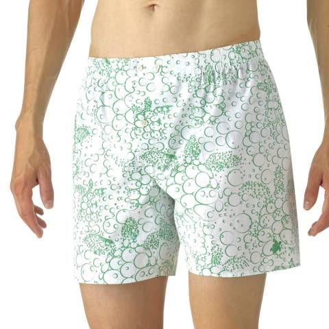 Vilebrequin White Bubble Turtle Poplin Shorts