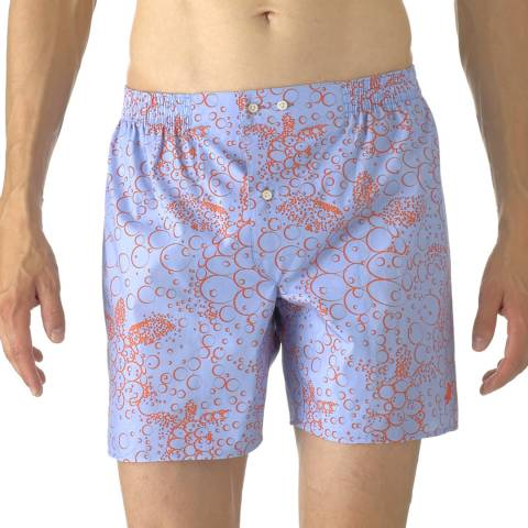 Vilebrequin Blue Bubble Turtle Poplin Shorts