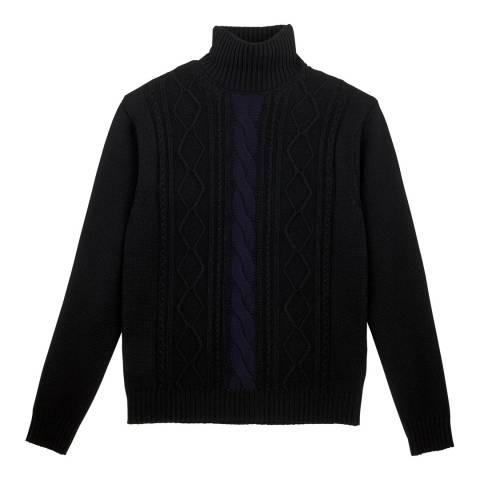 Vilebrequin Black Cable knit Wool Jumper