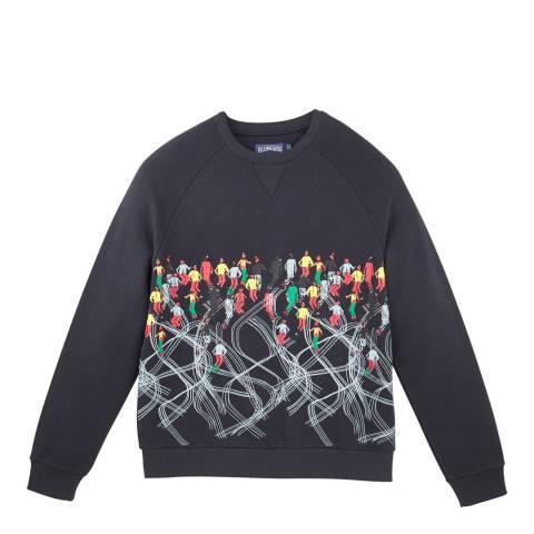 Vilebrequin Navy Blue Cotton Fleece Ski Sweatshirt