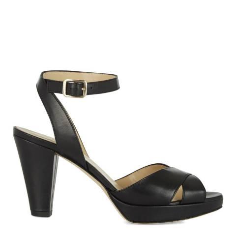 Hobbs London Black Leather Vivienne Heeled Sandals