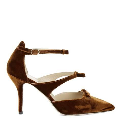 Hobbs London Gold Ochre Velvet Primrose Court Shoes