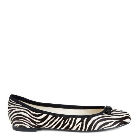 Hobbs London Black Zebra Print Flo Ballerina Shoes