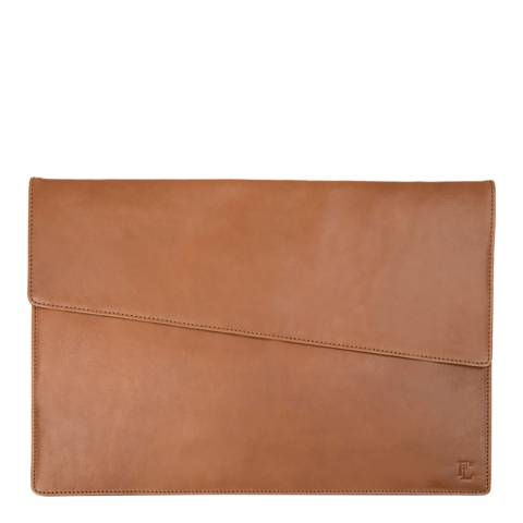 Forbes & Lewis Brown Lancing Leather Laptop Case 15 Inch