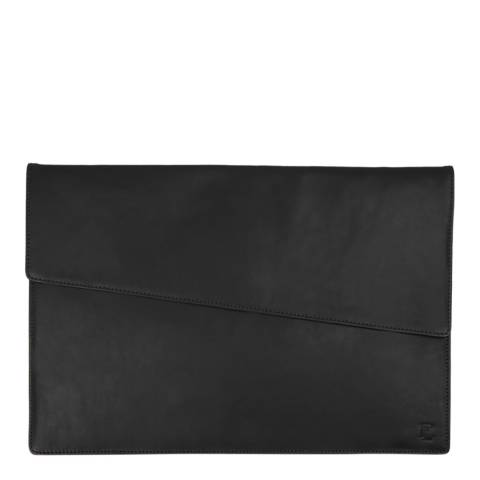 Forbes & Lewis Black Lancing Leather Laptop Case 13 Inch