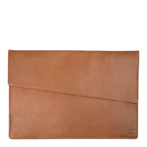 Forbes & Lewis Brown Lancing Leather Laptop Case 13 Inch