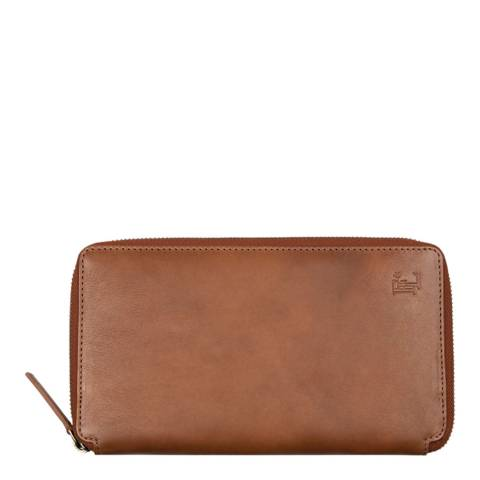 Forbes & Lewis Brown Leather Travel Wallet