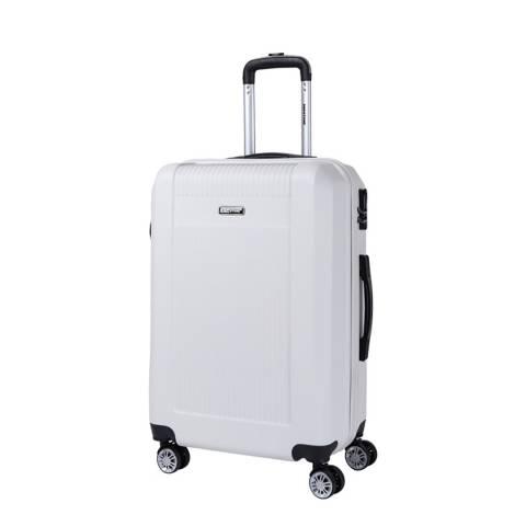 Bagstone Beige Paddy 8 Wheeled Suitcase 66cm