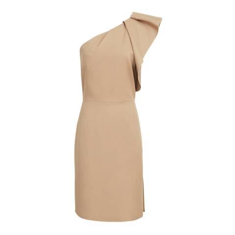 Reiss True Camel Selika Crepe Dress
