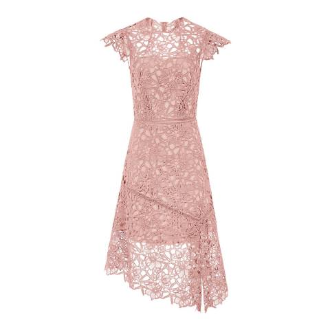Reiss Pale Pink Ivana Lace Dress