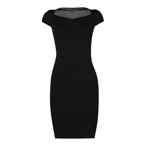 Reiss Black Lana Knitted Dress
