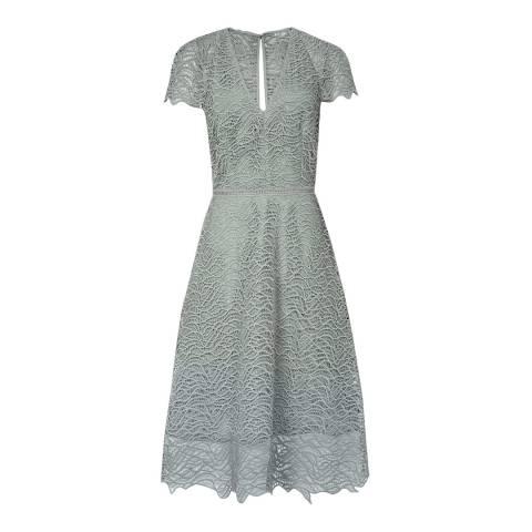 Reiss Pale Green Arielle Dress