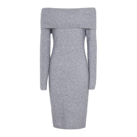 Reiss Grey Elena Off The Shoulder Dress