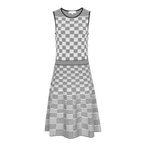 Reiss Navy/White Cassie Day Dress