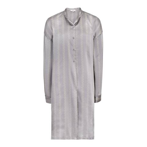 Reiss Grey Maribel Shirt Dress