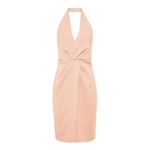 Reiss Apricot Yuma Twist Front Dress