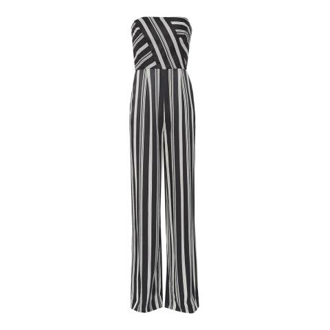 Reiss Black/White Vienna Striped Jumpsuit