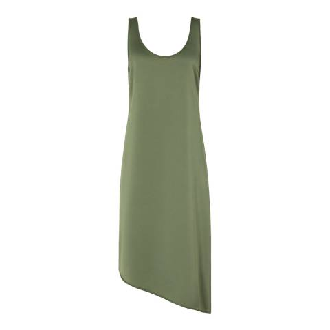 Reiss Green Melody Slip Dress