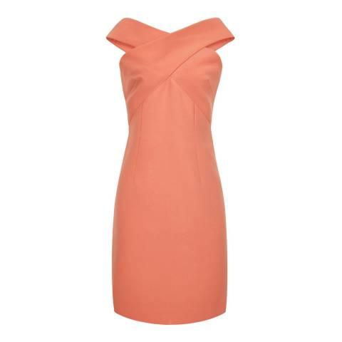 Reiss Apricot Darina Bardot Dress