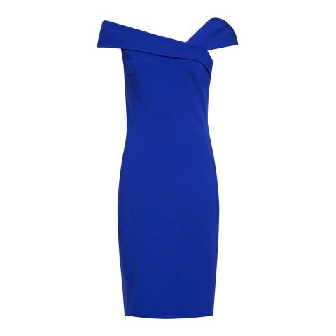 Reiss Bright Blue Lyn Bardot Dress